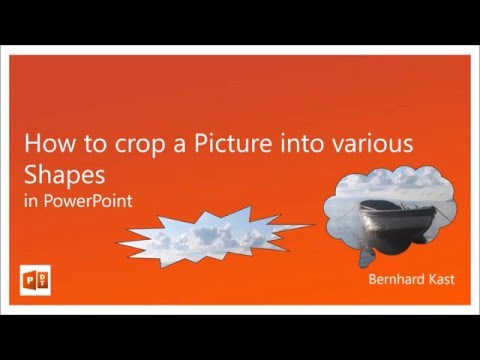 How to crop a Picture into various Shapes in PowerPoint