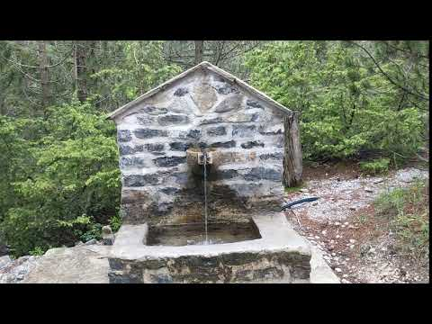 water fountain on Mount Olympus
