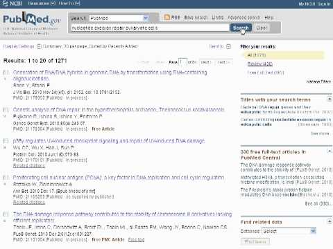 PubMed: Finding primary research and review articles