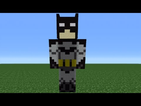 Minecraft 360: How To Make A Batman Statue