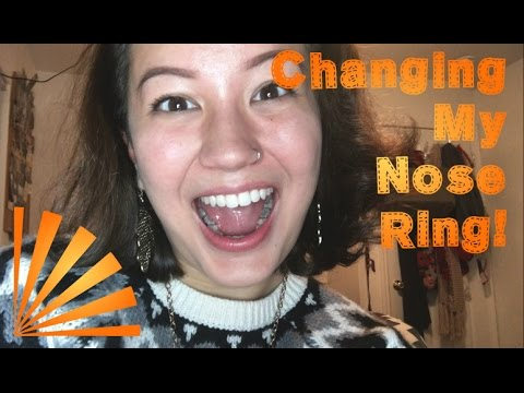 How I Change my Nose Ring! [stud to hoop]