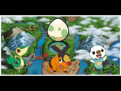 How to get snivy tepig and oshawott egg on Pokemon black and white