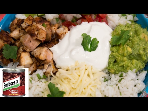 Better Than CHIPOTLE Chicken Bowl Recipe
