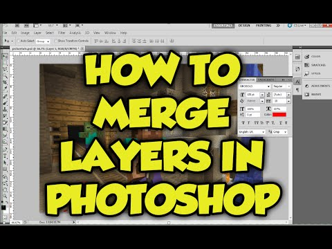 Photoshop Tutorial: How to merge layers in photoshop CS6! (Put Layers together in Photoshop in 1 min