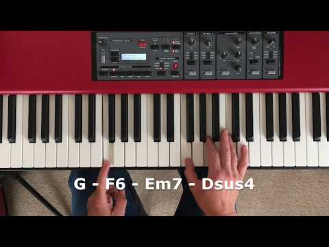 Mixolydian mode ballad piano improvisation with sus4 chords