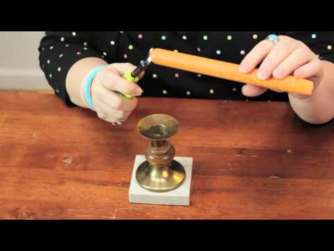How to Make Tapered Candles Stand Up : Cute Crafts
