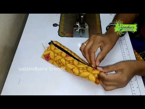 How To Make Double Zipper Fabric Purse At Home || How To Stitch Two Side Zipper Purse || DIY  Purse