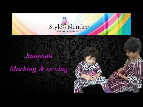 jumpsuit - pattern making and sewing (kids version)