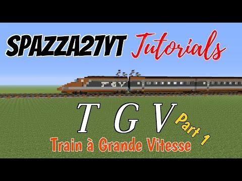 TGV Train tutorial Minecraft