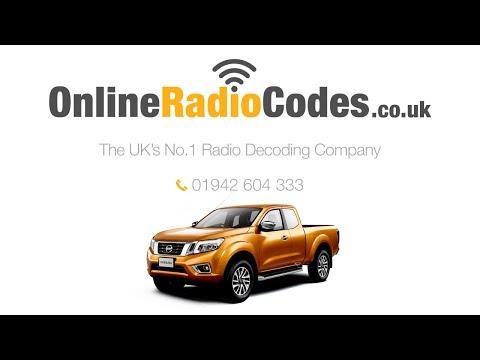🚗  Nissan Navara Radio Code Stereo PIN Reset Codes