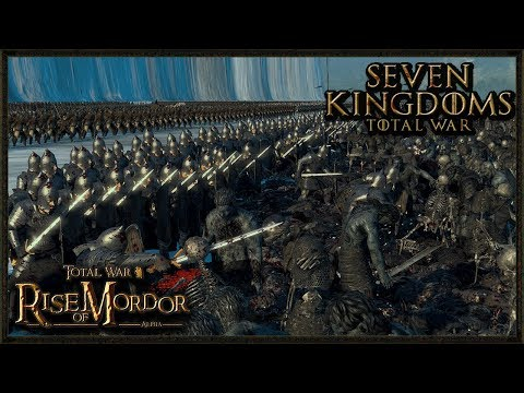 Massive 20,000 Lord OF The Rings Vs White Walker Battle - Total War: Rise OF Mordor Gameplay