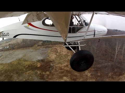 Flying with massive Tundra Tires! + Mechanic Shop change over from Floats - Super Cub
