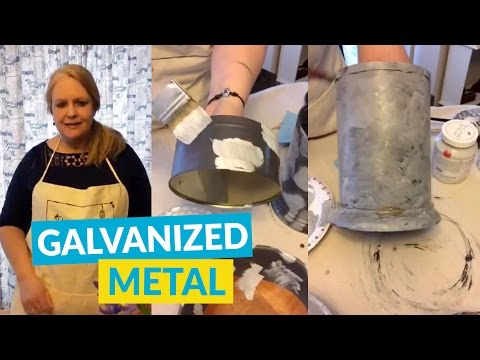 How To Create A Galvanized Metal Look With Paint!