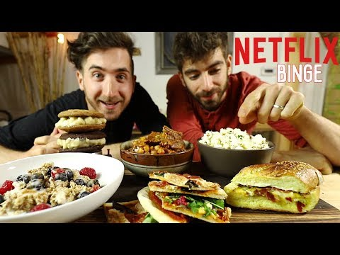 How to Cook For an All Day Netflix Binge... 🍕🍿🍔