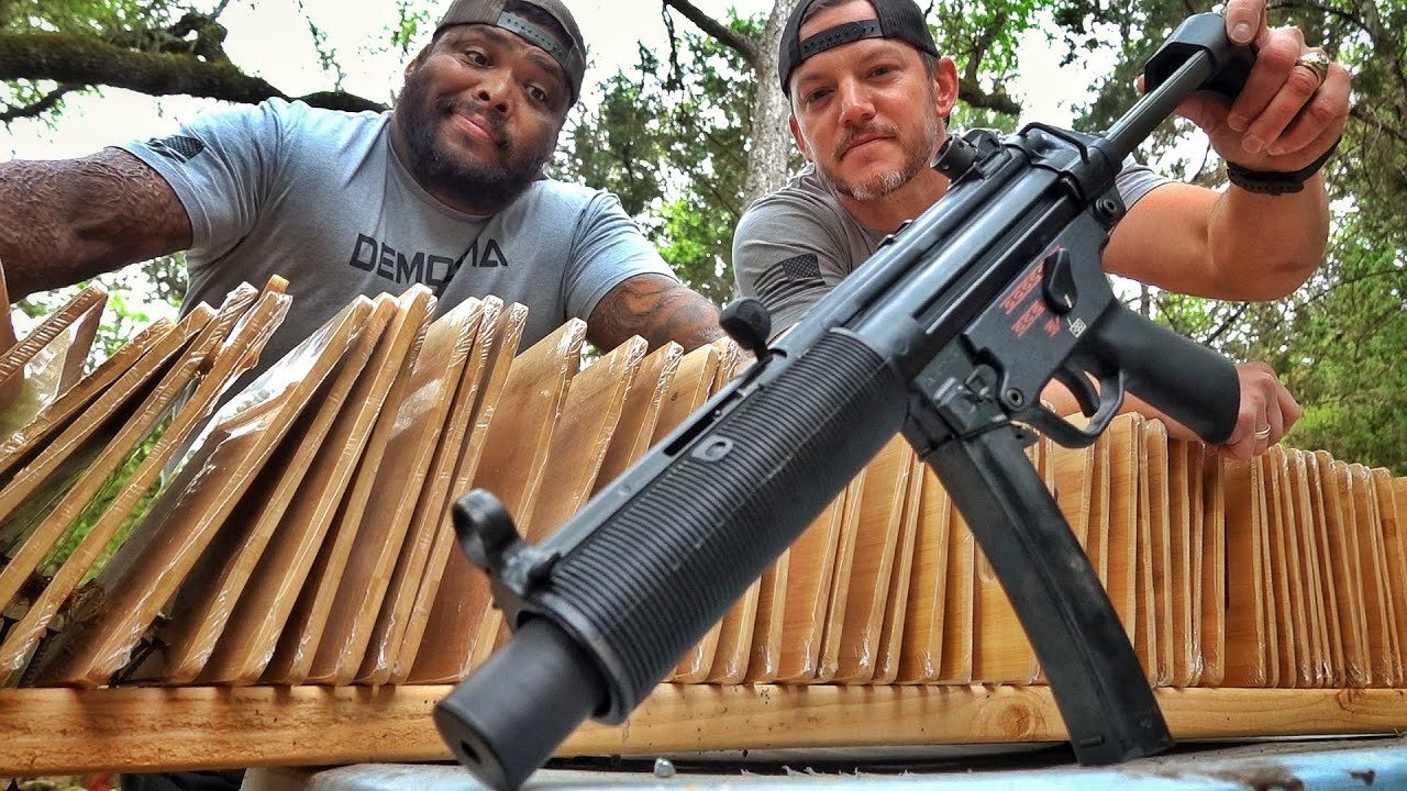 Suppressed MP5 Shooting Cutting Boards!!!