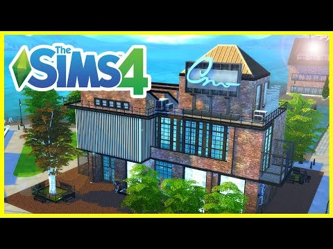 INDUSTRIAL ART GALLERY & MASSIVE STUDIO APARTMENT | The Sims 4 Build