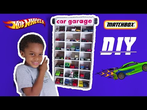 DIY HOT WHEELS MATCHBOX TOY CAR GARAGE | The Building Club