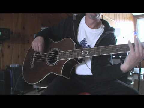 Ibanez 5 String Acoustic Bass Guitar Demo