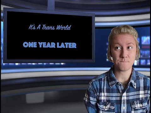 It's A Trans World: 1 year on HRT + Big Announcement!!