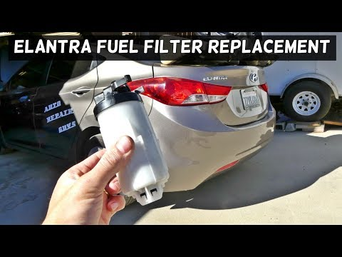 HOW TO REPLACE FUEL FILTER ON HYUNDAI ELANTRA