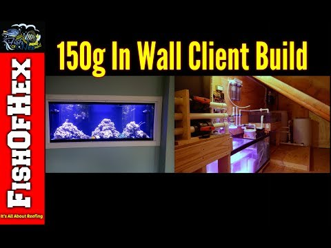 Jeff's 150 Gallon In Wall Reef Tank Build | Client Builds