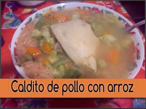 - Caldo de pollo con verduras y arroz rojo | receta | ♥