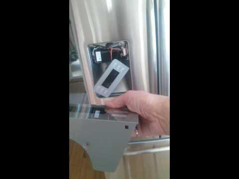 GE Profile dispenser control panel