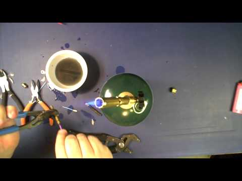 Cleaning ABS/PLA out of RepRap nozzle using blow torch