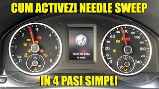 VW Golf 6 Staging or Needle Sweep on a cluster that doesn't support