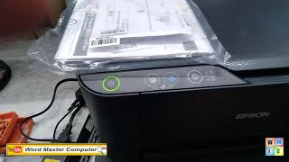 epson printer service required solution, red light blinking