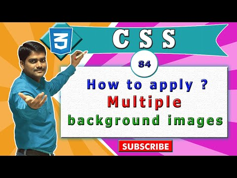 CSS video tutorial - 84 - setting multiple background images in css