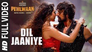 Dil Jaaniye Full Video | Pehlwaan - Hindi | Kichcha Sudeepa | Krishna | Arjun Janya