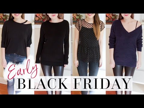 EVERYTHING ON SALE! EARLY BLACK FRIDAY HAUL & TRY ON!