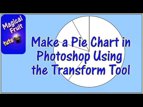 Make a Pie Chart in Photoshop using the Transform Tool