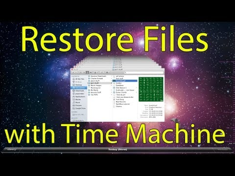How to Restore Files with Time Machine