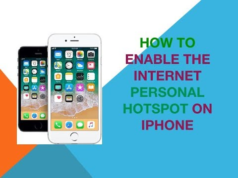 How to enable the internet personal hotspot on iPhone