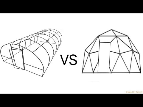Hoophouse vs Geodesic Dome which is cheaper to build? (2018)