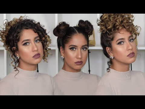 5 Quick and Easy Heatless Curly Hairstyles | Curly Hair Tutorial | Gabriella Gatehouse