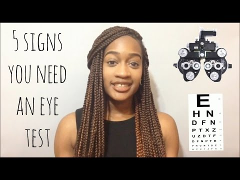 5 SIGNS YOU NEED AN EYE TEST