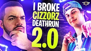 I BROKE CIZZORZ DEATHRUN 2.0! CIZZORZ LIVE REACTS! (Fortnite: Battle Royale)