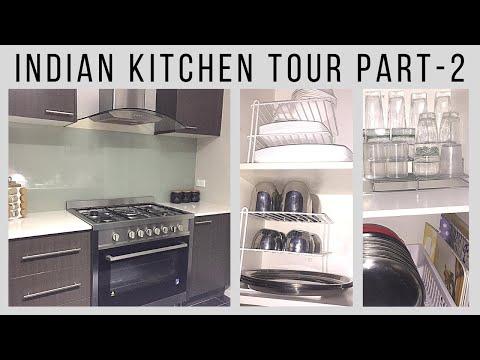 Indian kitchen tour (part 2) | Indian kitchen organisation ideas | kitchen cabinets organisation