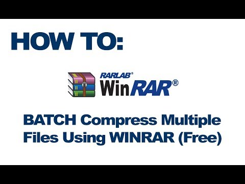 HOW TO: Compress Multiple Files Separately at Once Using Winrar