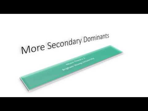 More Secondary Dominants