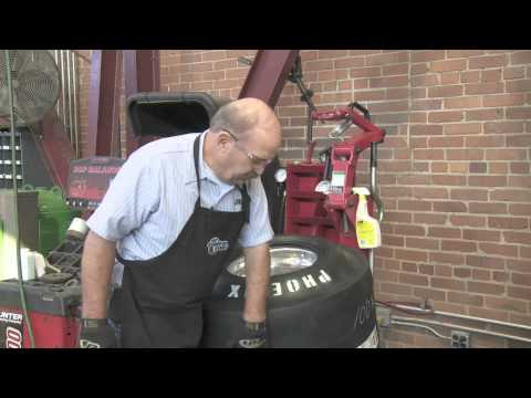 Install an Inner Tube in a Drag Racing Tire