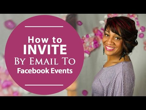 How To Invite By Email To Facebook Events