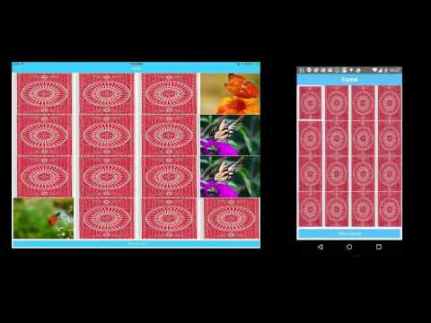 Demo Card Matching Game for iOS and Android
