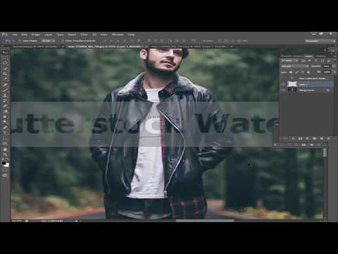 How to add watermark to photo like Shutterstock Image in Photoshop CS6 2018