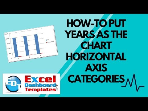How-to Make Excel Put Years as the Chart Horizontal Axis Categories