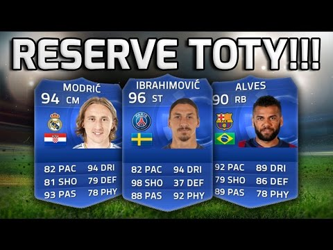 FIFA 15 - TOTY RESERVES!!! - The Second Team Of The Year Squad!