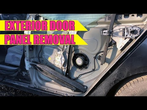 How to remove / install exterior outer door panel VW Golf Mk5, Jetta, Rabbit